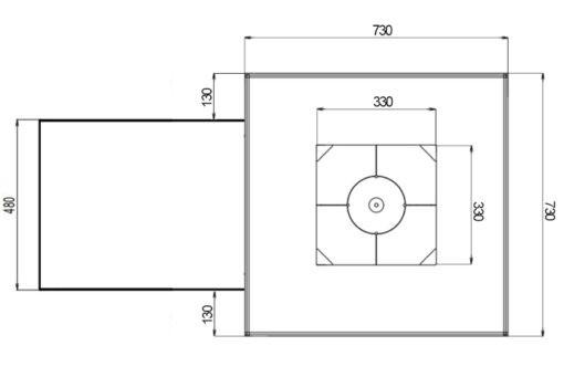 pro730 masterchef plan view dimension